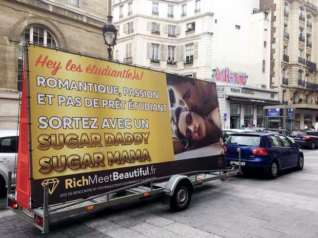 Une publicité pour le site RichMeetBeautiful.fr